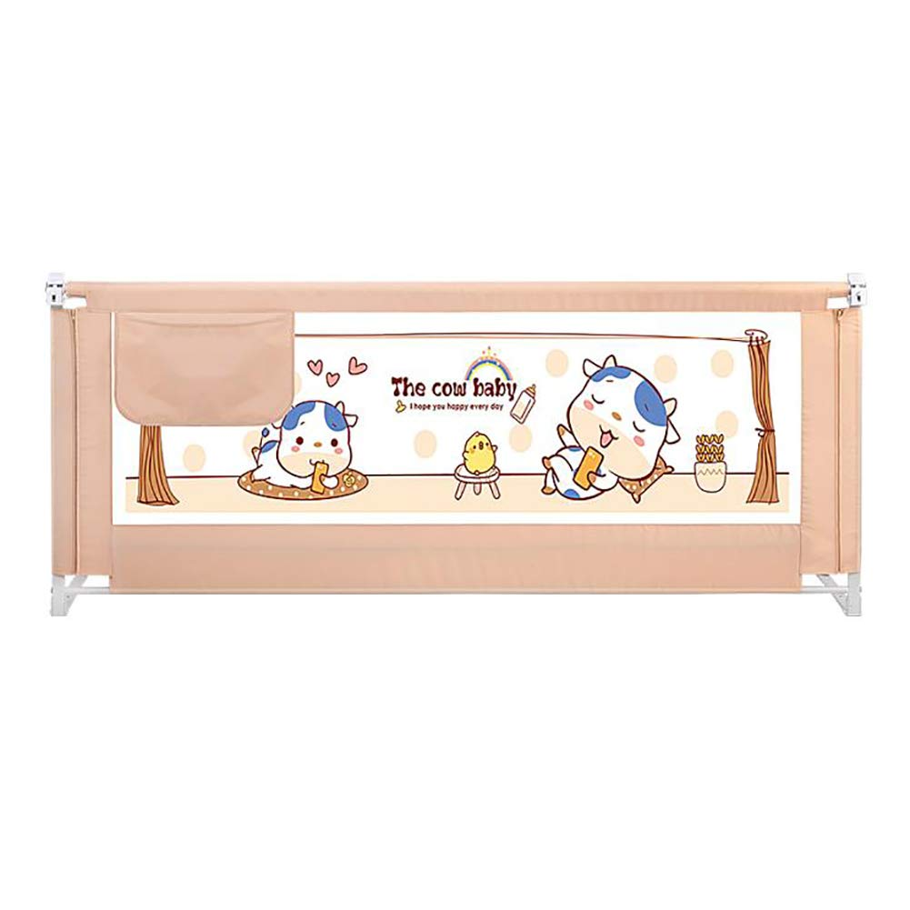 ベッドフェンス ポータブル子供用ベッドのガードレール、垂直リフティングベッドサイドアンチ衝突ベッドレール、クイーンベッドユニバーサルアンチロールオーバーバッフル (サイズ さいず : Length 180cm) Length 180cm  B07LBCQT71