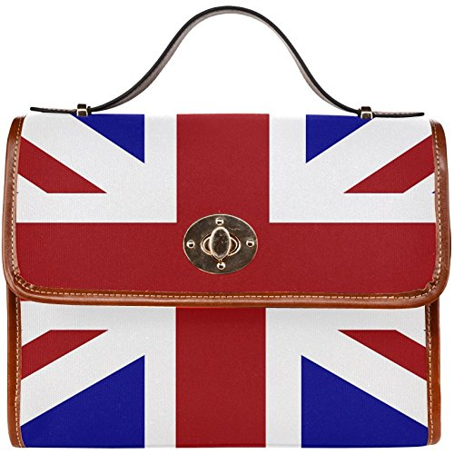 InterestPrint Union Jack Women's Waterproof Canvas Tote Shoulder Messenger Crossbody Ba... (Union Jack Satchel compare prices)
