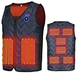 Heating Electric Vest Heated Jacket Cold-Proof Heating Clothes Washable Four Sizes Adjustment (Battery Not Included) Black