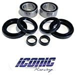 #4: 07-13 Honda Rancher 420 4x4 Fourtrax TRX420FA FE FM FPA FPE FPM BOTH Front Wheel Bearing and Seal Kits (4x4 Only)