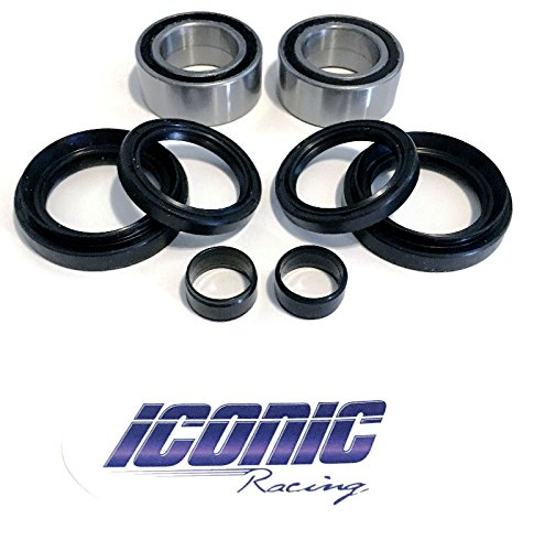 07-13 Honda Rancher 420 4x4 Fourtrax TRX420FA FE FM FPA FPE FPM BOTH Front Wheel Bearing and Seal Kits (4x4 Only)