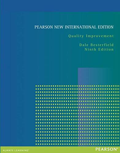 Quality Improvement: Pearson New International Edition