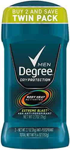 Degree Men Dry Protection Antiperspirant Extreme Blast 2.7 oz, 2 Pack