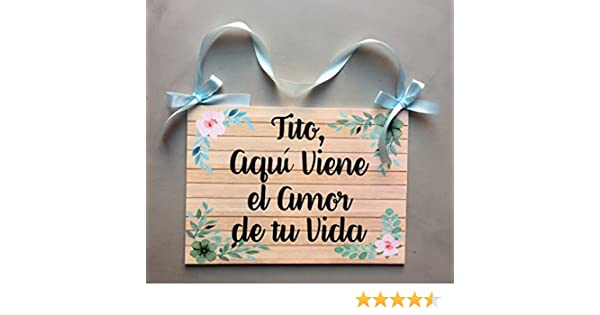 Cartel para Bodas, aquí viene la novia o el amor de tu vida ...
