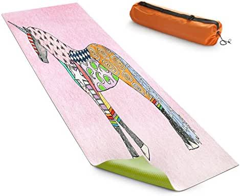 DiaNoche Designs Yoga Mats By Marley Ungaro - Unicorn Pastel Pink