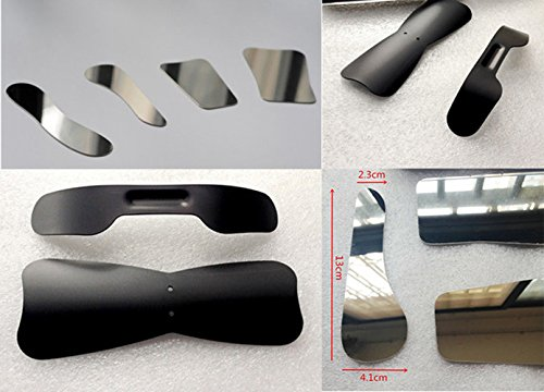 Enshey 4pcs Stainless Steel Dental Lab Mirror and 2pcs Photographic Black Background ()