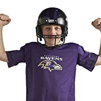 Franklin Sports Baltimore Ravens Kids Football Uniform Set - NFL Youth Football Costume for Boys & Girls - Set Includes Helmet, Jersey & Pants - Medium