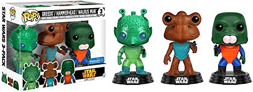 Funko Pop! Greedo, Hammerhead, & Walrus Man Kenner Toy