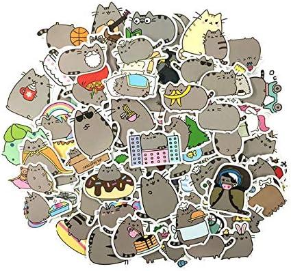 50 Unids/lote Gato de Dibujos Animados Pegatinas Lindas Para Tab ...
