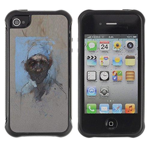 Apple Iphone 4 / 4S - Watercolor Painting Art Man