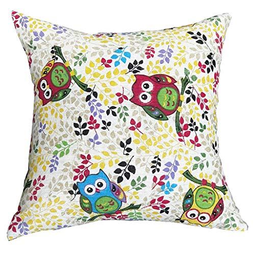 Charmsamx - Funda de almohada de lino y algodón, diseño ...