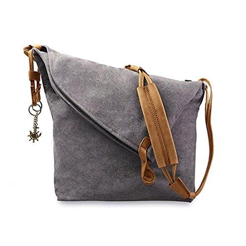 Fansela(TM) Messenger Bag, Crossbody Satchel Bag Retro Canvas Hobo Bag Oversized