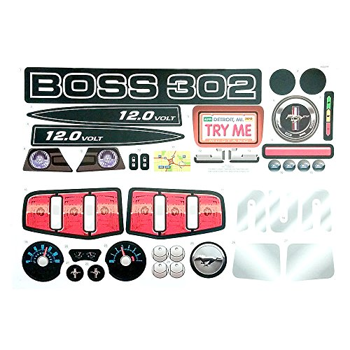 Power Wheels Ford Mustang Boss Decal Sheet Y8208-0310