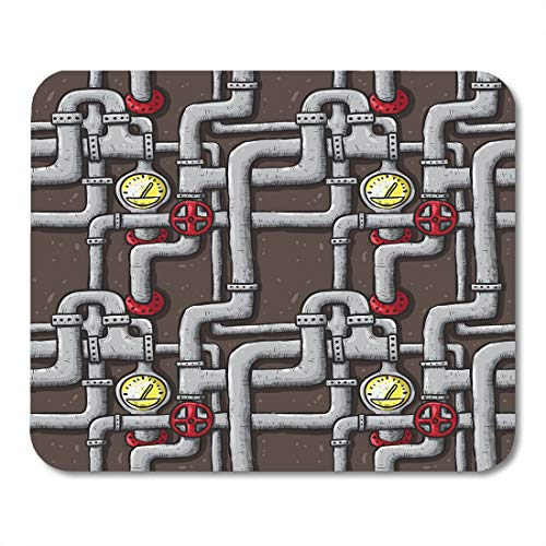 Semtomn Mouse Pad Creative Pipe Line Intricate Doodle Colored Pattern Abstract Connection Mousepad 9.8