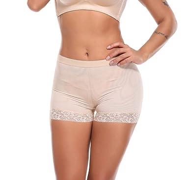 SLIMBELLE Femme Culotte Push Up Sculptante Monte Fesse Amincissante  Invisible Slips Dentelle Butt Lifter Panty Shapewear ee460d978ba