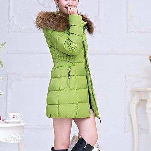 Cappotto Donna ZongSen Verde Piumino Spessore Caldo con Inverno Cappuccio qAIwId6O