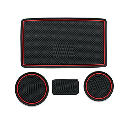 UNAKIM--4pcs Rubber Car Water Cup Mats Non-Slip Floor Mats for Wrangler 2008-2015 (2009 Harley Catalog)