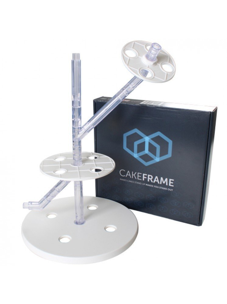 Cake Support Structure for Easy Gravity Defying Cakes by CakeFrame - BONUS Conversion Guide Included (Starter Kit)