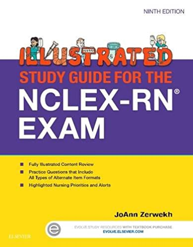 illustrated study guide for the nclex rn exam 9e 9780323280105 rh amazon com free lvn entrance exam study guide Study Guide Exam Outlines