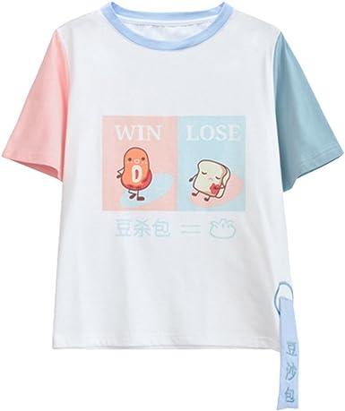 Kawaii Baby Girls Pastel Ice Cream Printed Peach Pink Tees