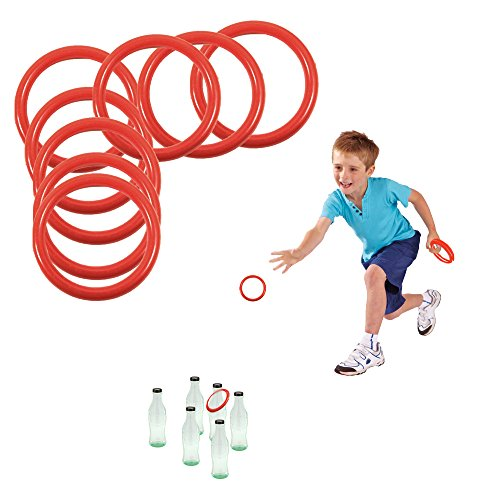 Toy Cubby's Ring Toss Ring-a-bottle Game Set, 2.5 Inches, 24 Pcs -