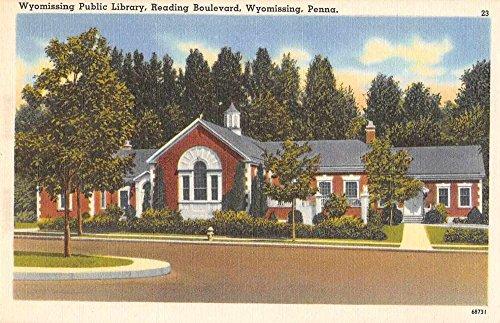Wyomissing Pennsylvania Public Library Vintage Postcard - Pennsylvania Wyomissing