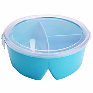 BleuMoo Portable Microwave Lunch Box Picnic Bento Food Container Storage With Spoon (Sky Blue)