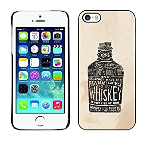 TECHCASE**Cubierta de la caja de protección la piel dura para el ** Apple iPhone 5 / 5S ** Whiskey Bottle Bar Drinking Party Alcohol Art