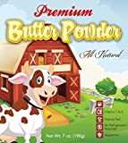 Premium Real Butter Powder, 33 Servings, Made From Cream, All Natural, No Refrigeration Needed, 7 Ounce