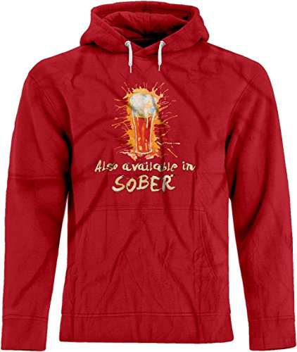 BSW Men's Also Available in Sober Drinking Beer Drunk Premium Hoodie 3XL Red - New Xxx Tequila