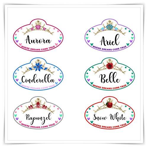 (Personalized Disney Inspired Princess Name Tag Magnet. Handmade Disney Cruise Door Princess Magnet.)