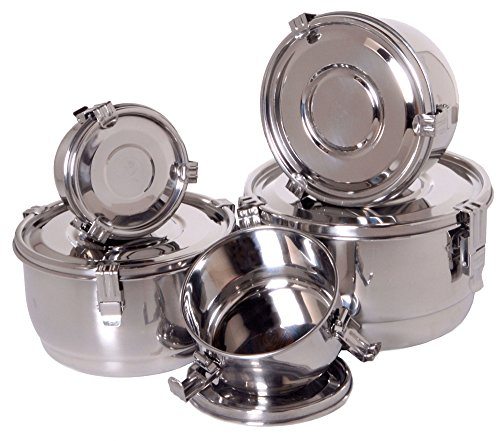 Stainless Steel Bowls with Lids -