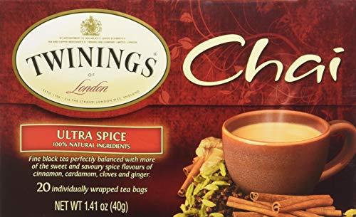 (TWINING TEA TEA CHAI ULTRA SPICE, 20 BG (Pack of 3))