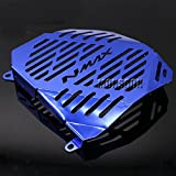 Blue Motorcycle Radiator Grille Guard Cover