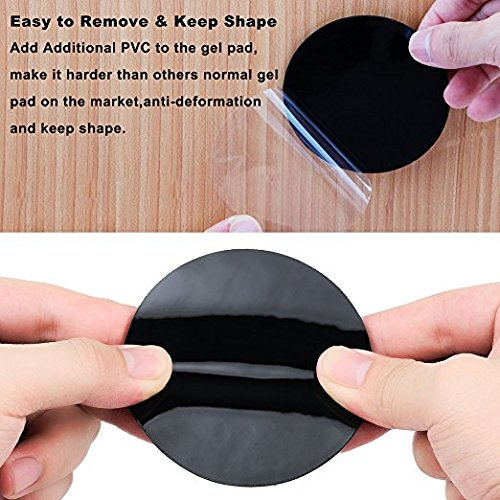 Fixate Sticky Cell Pads, Strong Sticky Gel Pads Stick to Glass, Metal, Cabinets, Car and Other Surfaces Multifunctional Washable Anti-Slip Strechable for Cellphone, Keys Xmas Presents, 20PCS by Johouse (Image #6)
