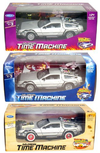 Future Machine - Collect All 3! Back to The Future 1-2-3, DeLorean Time Machine.