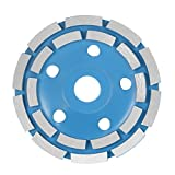 "KKmoon 125mm 5"" Diamond 2 Row Segment Grinding Wheel Disc Bowl Shape Grinder Cup 22mm Inner Hole for Concrete Granite Masonry Stone Ceramics Terrazzo Marble Building Industry"