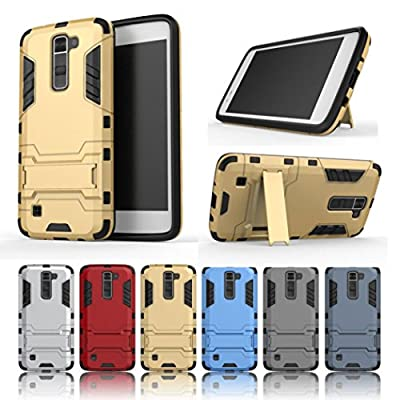 LG K7 Tribute 5 Case,GBSELL Armor Slim Kickstand Protective Phone Shockproof Case Cover