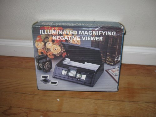 Jobars Illuminated Magnifying Negative & Slide Film Viewer / Organizer