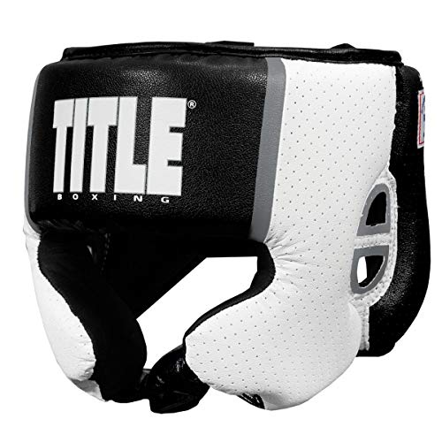 Title Boxing Aerovent USA Boxing Competition Headgear, Black, Large