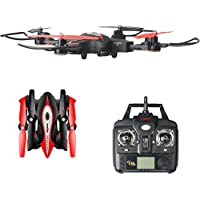 Syma X56W RC Foldable Drone with 720P HD Wifi Quadcopter Camera and Live Video 4 Channel Headless Mode Altitude Hold One Key Take off/Landing UAV (Black)