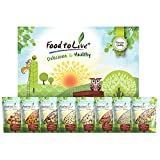 8 Gourmet Variety Healthy Snack Bags of Raw Nuts in a Gift Box - Brazil Nuts, Almonds, Macadamia Nuts, Cashew, Walnuts, Hazelnuts, Pecans, Pine Nuts