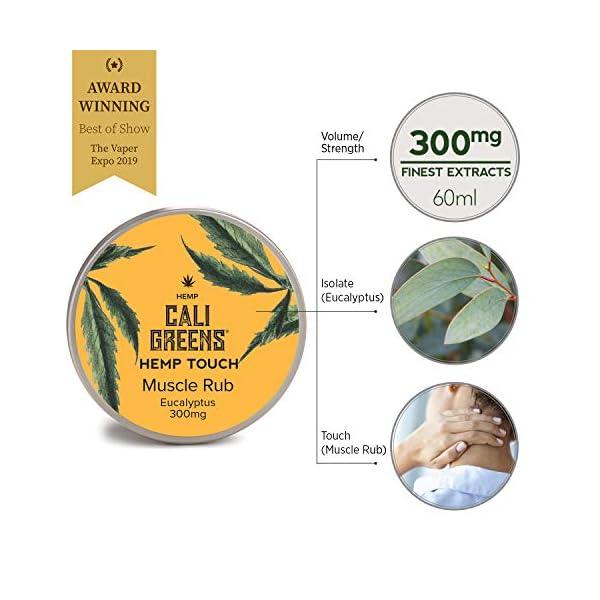 Hemp Touch Muscle Rub Eucalyptus Cali Greens 300mg Hemp Extract Cream | 60ml (300mg)