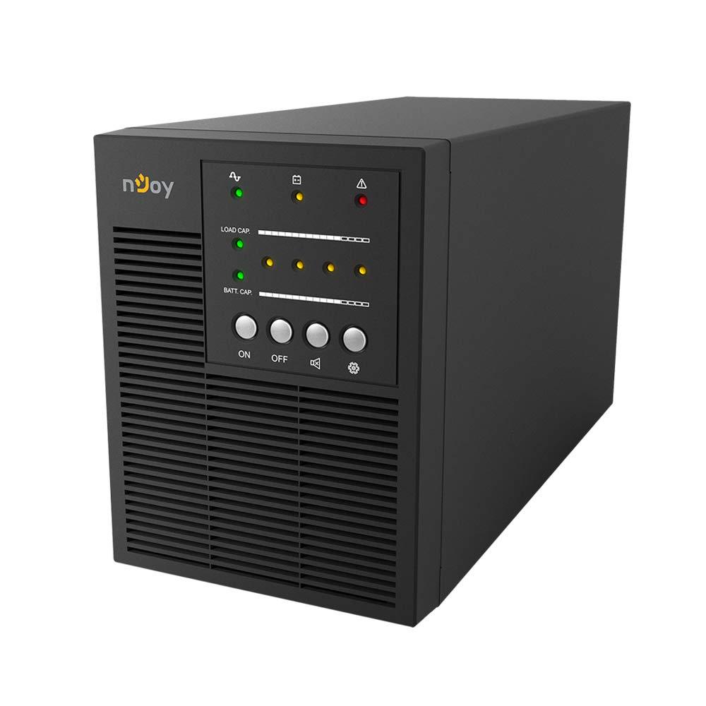 nJoy Horus Plus 2000VA Gruppo di Continuità Line Interactive UPS 1200 Watt Display LCD Touch Screen AVR 4 Uscite Shuko 1 Rj11 o RJ45 In/Out USB 2 Batterie 12V 9Ah