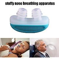 nabati nabati (TM) Advanced Anti Schnarchen und Schlafen Gerät Frei SNORE STOPPER Magnetischer Silikon Nase Clip Sleeping Gerät, Zufällige Farbe
