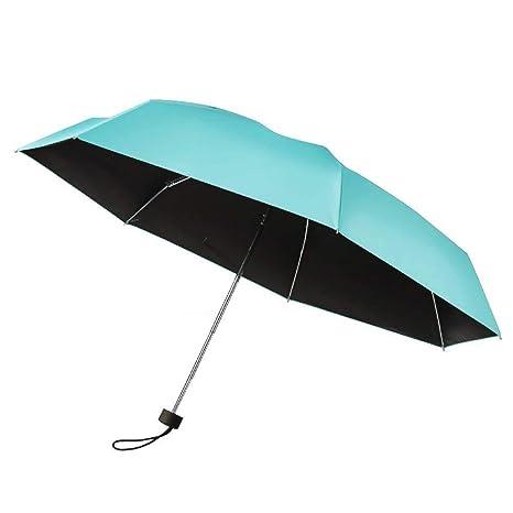 Plemo Paraguas Plegable Mini Paraguas Tiffany Blue Anti - UV y Compacto Ultra- Ligero ideal