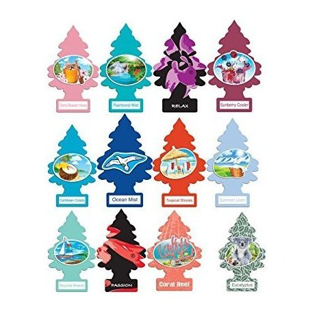 Little Trees Home and Car Air Fresheners 12 Pack Vacation Pack Ultra Rare Scents Car Freshner Corp.