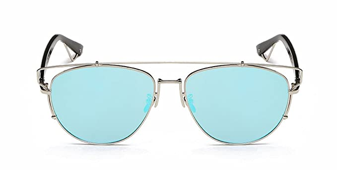 GAMT Mujer Vintage espejo Aviator Gafas de sol Marco de ...