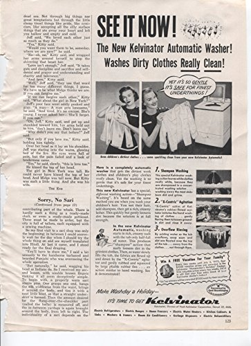 Kelvinator See It Now! The New Kelvinator Automatic Washer! Washes Dirty Clothes Really Clean! 1953 Vintage Antique Advertisement ()