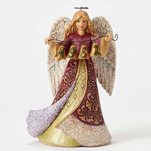 Enesco Jim Shore Heartwood Creek Victorian Angel with Bells 8.25 in Figurine